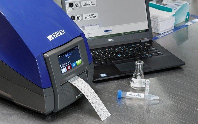 Автоматизированная маркировка лабораторных образцов с принтером Brady i5100