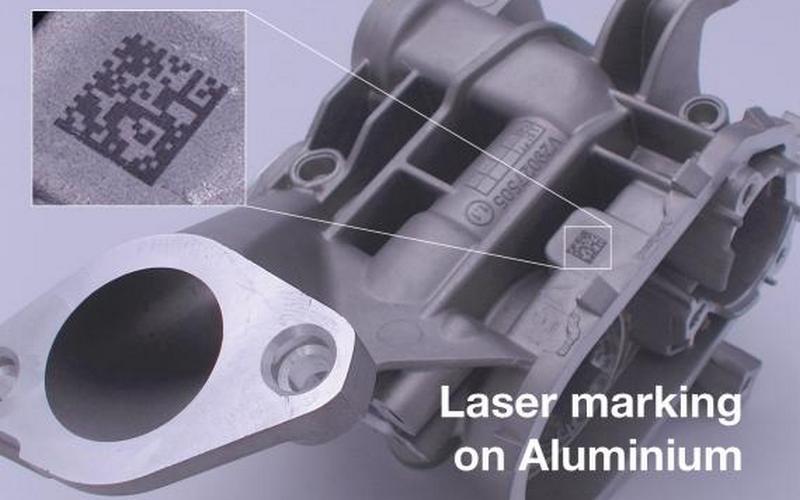 Маркировка на алюминии с лазерным оборудованием SIC Marking