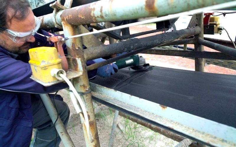 Оперативный ремонт конвейерной ленты с набором Weicon
